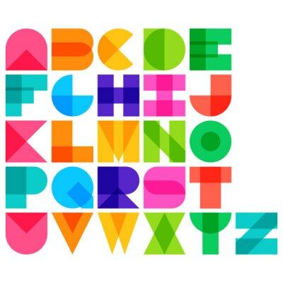 Poster Illustrazione vettoriale di colore del carattere