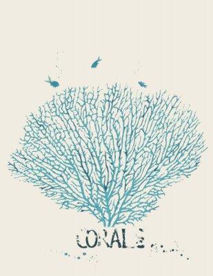 Poster Illustrazione vettoriale di un corallo ventilatore