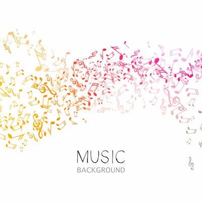 Poster Illustrazione vettoriale di uno sfondo astratto di musica