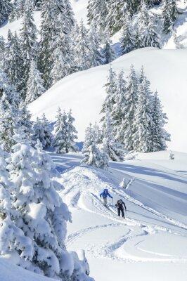 Poster Im Tourengeher verschneiten Tirol