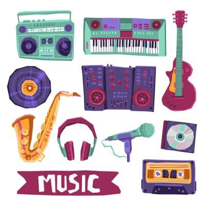 Poster Insieme dell'icona di musica