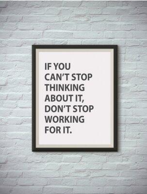 Poster Inspirational citazione motivante su cornice.