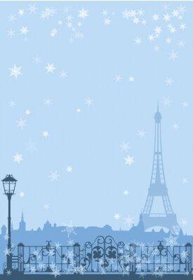 Poster inverno sfondo di Parigi