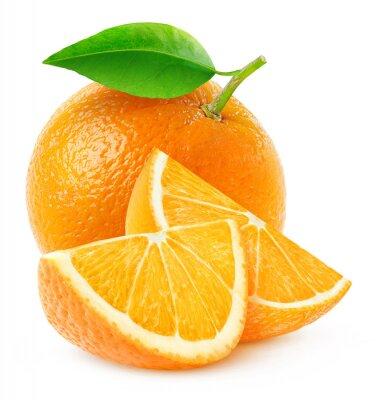 Poster Isolati frutto arancione e fette