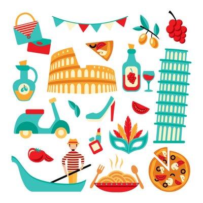 Poster Italia set decorativo