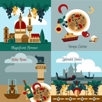 Poster Italia Touristic Set