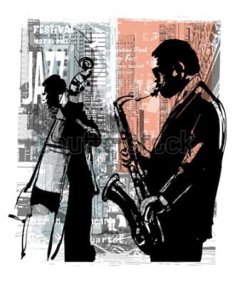 Poster Jazz a New York - illustrazione vettoriale