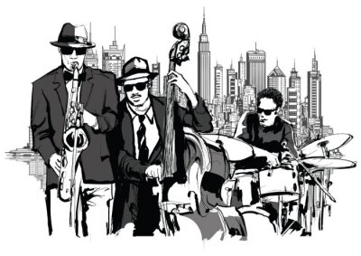Poster jazz band di New York