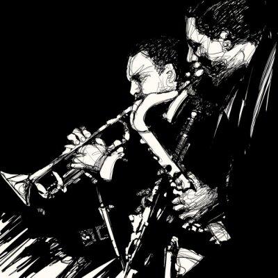 Poster jazz brass musicista