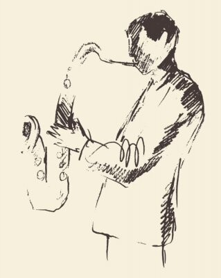 Poster Jazz poster saxophone music acoustic consept