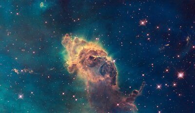 Poster Jet in Carina Nebula. Composto di gas e polveri.