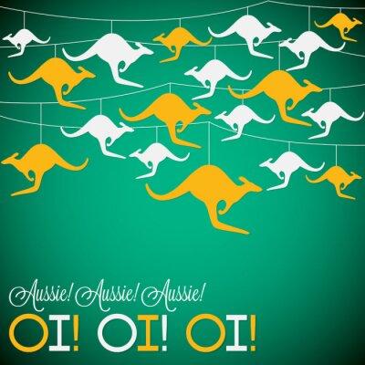 Poster Kangaroo ornamento l'Australia Day Card in formato vettoriale.