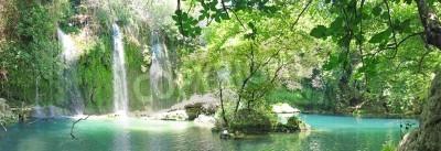 Poster Kursunlu cascata panoramica nel parco nazionale di Turchia