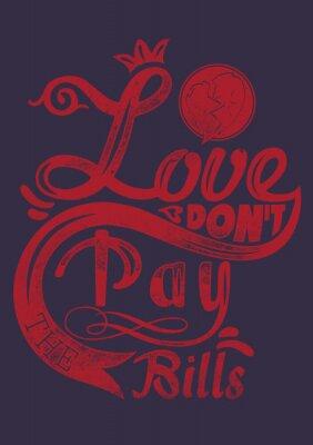 Poster L'amore non pagate le bollette