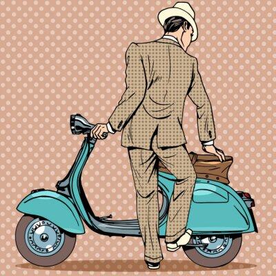 Poster L'uomo ha una motorino