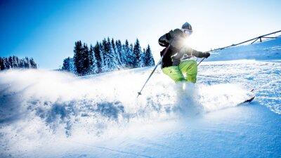 Poster L'uomo sci alpino