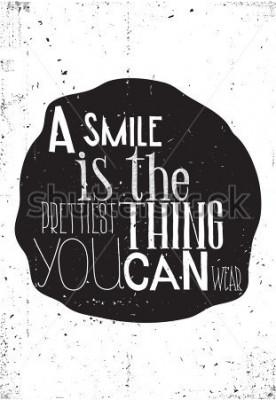 Poster La frase, un sorriso è la cosa più bella che puoi indossare