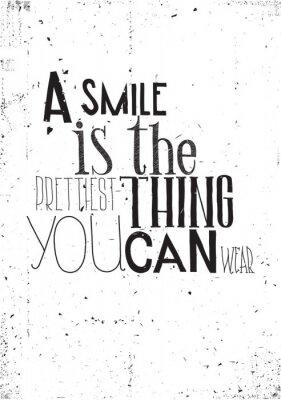 Poster La frase, un sorriso è la cosa prettilest si può indossare