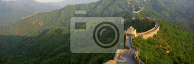 Poster La Grande Muraglia a Mutianyu a Pechino nella provincia di Hebei, Repubblica Popolare Cinese