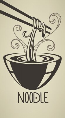 Poster la migliore illustrazione noodle