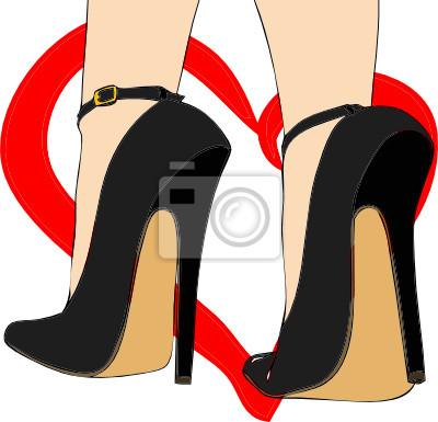 La passione per le scarpe manifesti da muro • poster camoscio ... ba59dd6a3d1