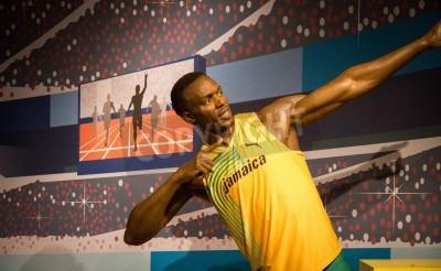 Poster La statua di Usain Bolt a Madame Tussauds a Londra 2012