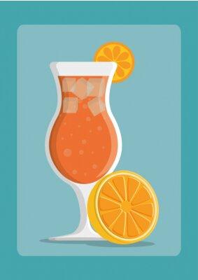 Poster Le bevande icona del design