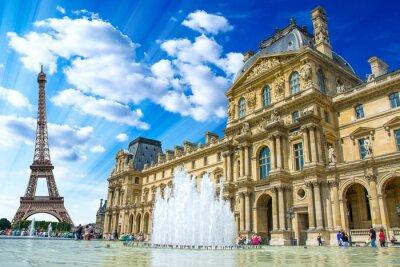 Poster Le Louvre, Parigi, Francia
