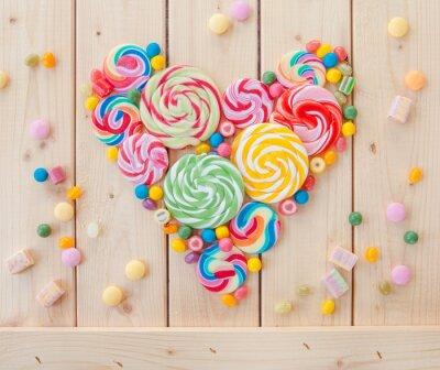 Poster lecca-lecca colorati e caramelle
