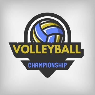 Poster logo sport pallavolo.