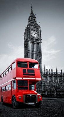 Poster London bus und Big Ben