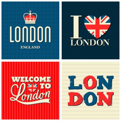 Poster Londra Cards Collection