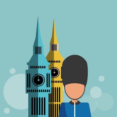 Poster Londra icona del design