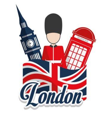Poster Londra punti di riferimento di progettazione