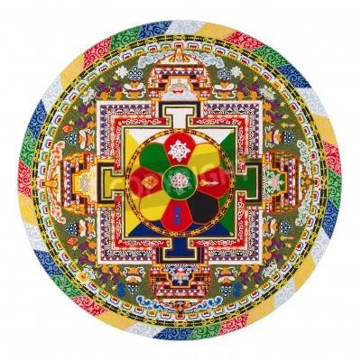 Poster Mandala tibetano