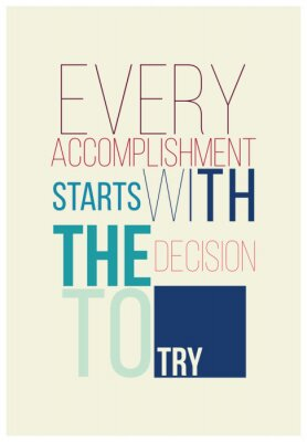Poster Manifesto motivazionale per un buon inizio