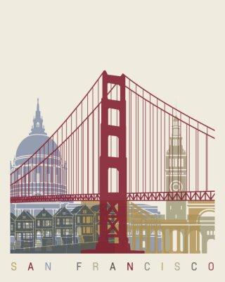 Poster manifesto skyline di San Francisco