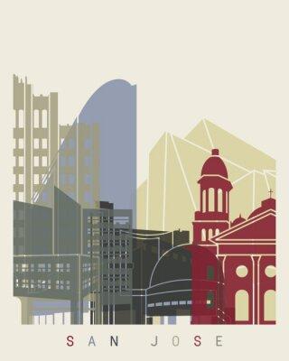 Poster manifesto skyline di San Jose