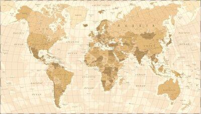 Poster Mappa del mondo Vector Vintage