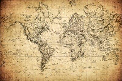 Poster Mappa dell'annata del mondo 1814 ..