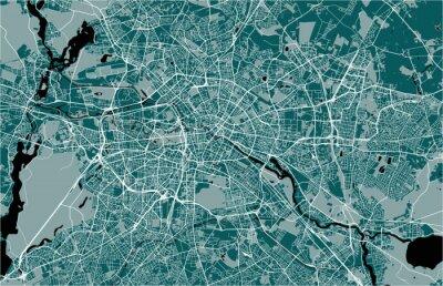 Poster mappa della città di Berlino, Germania