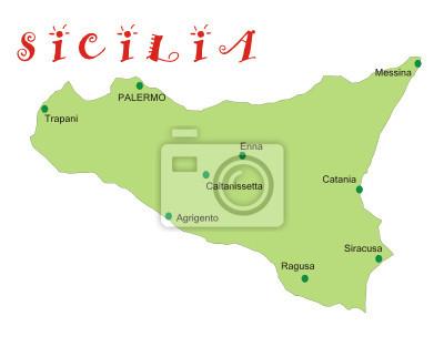 Stampa Cartina Sicilia.Mappa Della Sicilia Manifesti Da Muro Poster Cartine Caltanissetta Cataniait Myloview It