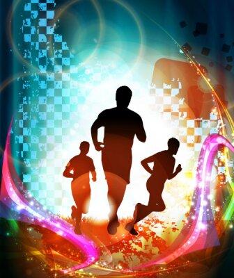 Poster Maratoneti. Vettore