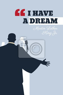 Poster Martin Luther King Day flyer, banner or poster. Vector illustration