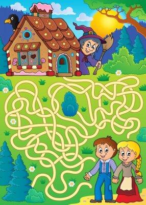 Poster Maze 30 con tema di Hansel e Gretel