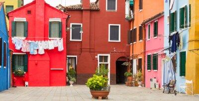 Poster Mediterranean architecture in Burano, Italy