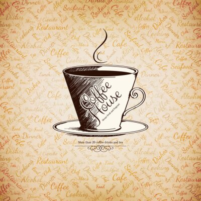 Poster Menu per il ristorante, caffetteria, bar, caffè