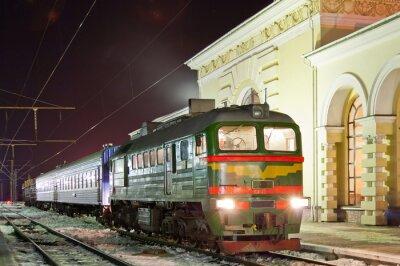 Poster Merci-passeggeri del treno diesel