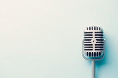 Poster Microfono d'argento d'epoca