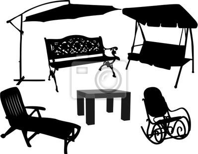 Mobili Per Giardino E Terrazzo.Mobili Per Giardino E Terrazzo Manifesti Da Muro Poster Sedia A